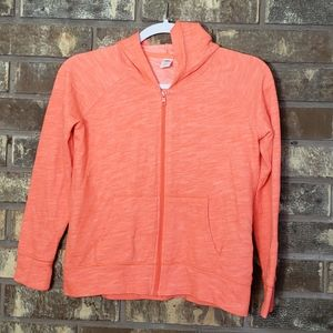 Old Navy Neon SpaceDye Girls Full Zip Hoodie 10-12